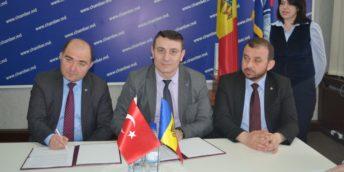 CCI a RM a semnat un Acord de cooperare cu Camera de Comerț și Industrie din Safranbolu, Republica Turcia