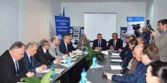 """Circa 50 de agenți economici au participat la sesiunea de informare """"Oportunități de cooperare economică și investițională în Regiunea de Nord a Republicii Moldova"""", desfășurată la Soroca"""