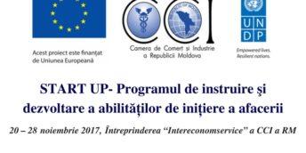 Participă  la START UP- Programul de instruire şi dezvoltare a abilităților de inițiere a afacerii!