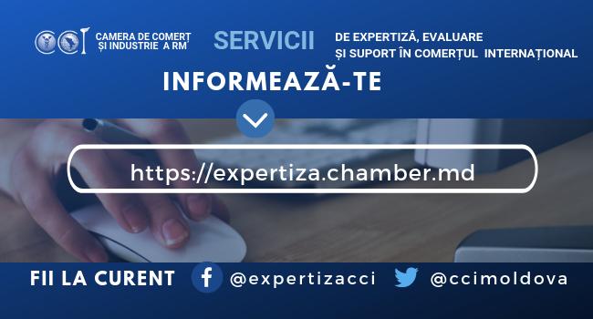 """CCI a RM lansează noua versiune a paginii dedicată """"Serviciilor de expertiză, evaluare și suport în comerțul internațional"""""""