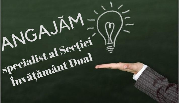 Angajăm specialist al Secției Învățământ Dual