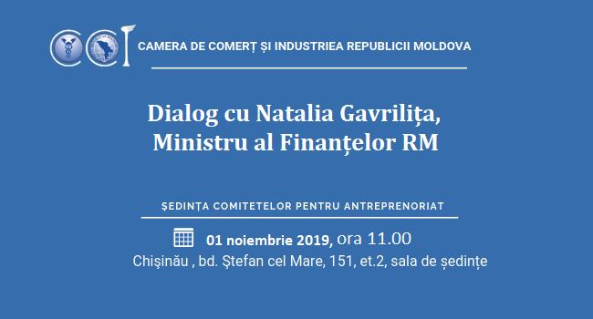 CCI a RM invită membrii Camerei la un dialog deschis cu Ministrul Finanțelor