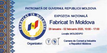 """Profită de ultimile standuri disponibile la Expoziția națională """"FABRICAT ÎN MOLDOVA"""" 2020"""