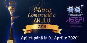 """Poți trimite cererea de participare la concursul """"MARCA COMERCIALĂ A ANULUI 2019"""" până pe 01 aprilie 2020"""