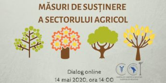 """Dialog online cu genericul """"Impactul COVID-19 în agricultură și măsuri de susținere a sectorului agricol""""."""