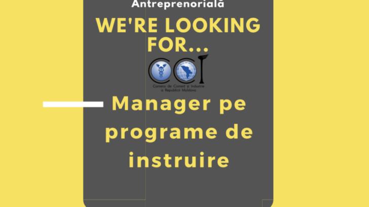 Angajăm Manager pe programe de instruire